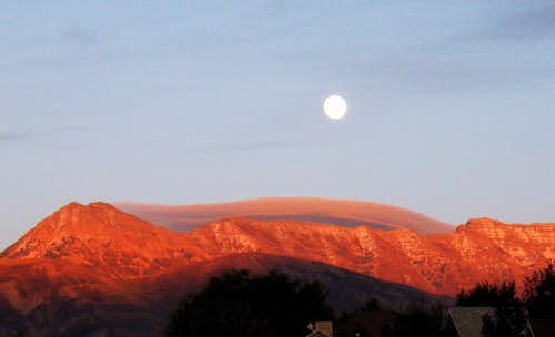 Moonrise over Timp