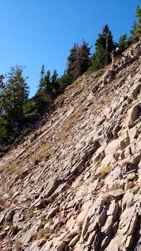 Ridge traverse down from Freedom Peak