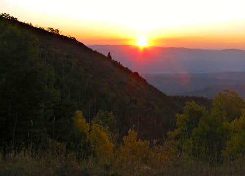 Nebo Scenic Byway Sunrise