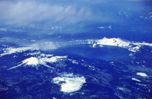 Crater Lake on March 19, 2004...