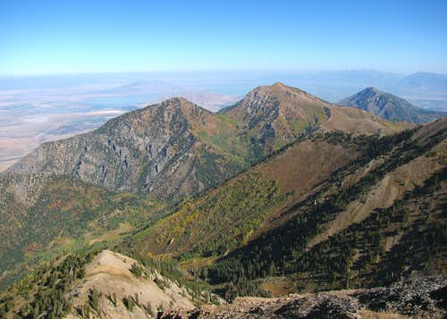 View north from Nebo sub-peak