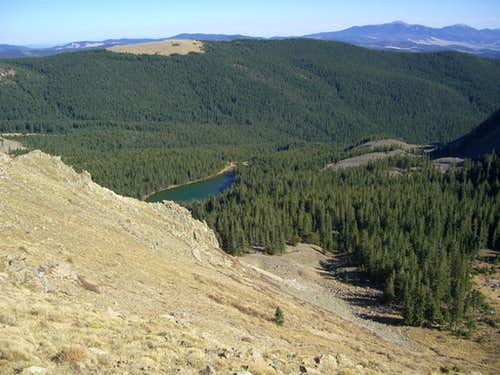Heart Lake from Latir Mesa