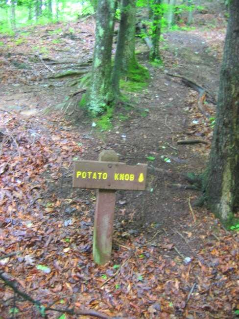 The start of the trail to the...