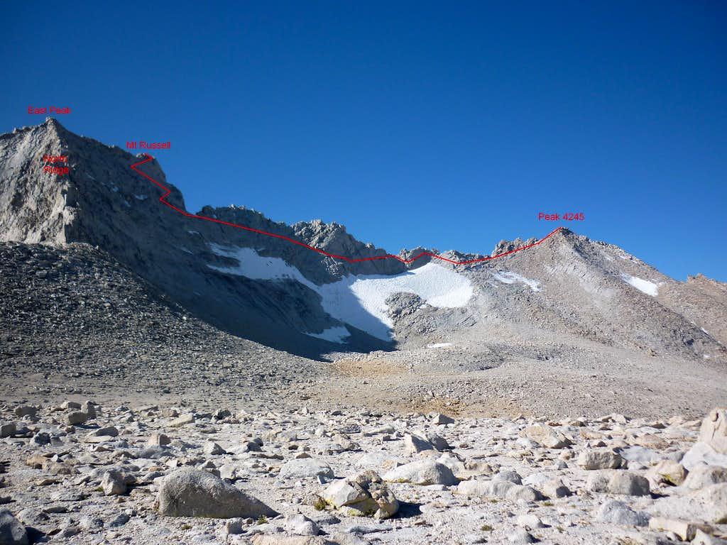Mt Russell's West Ridge