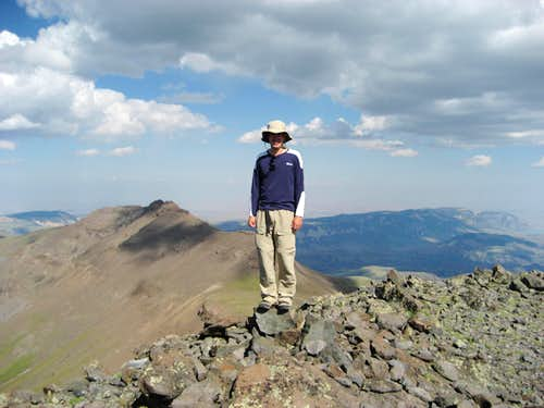 On the summit of Trout Peak
