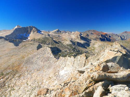 "Sierra crest to Mt. Conness from ""False White Mtn."""
