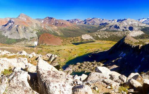 Southeast from Sierra crest southeast of
