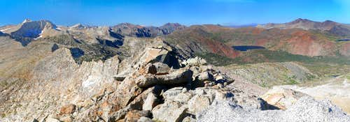 """False White Mtn."" north pano along the Sierra crest."