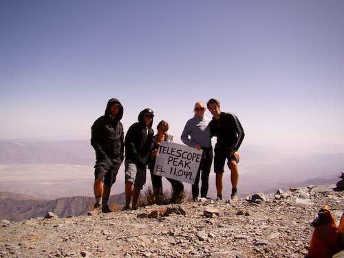 Telescope summit pose