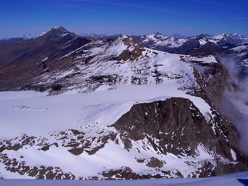 Rocciamelone Glacier seen from the top