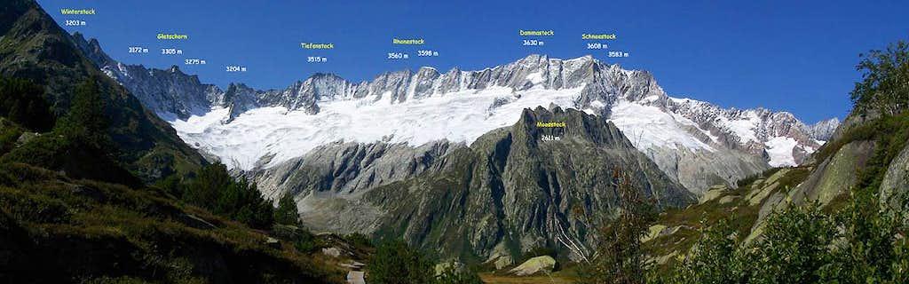 the Dammastock ridge