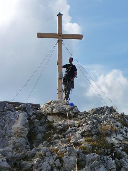 Summit cross of Geiselstein
