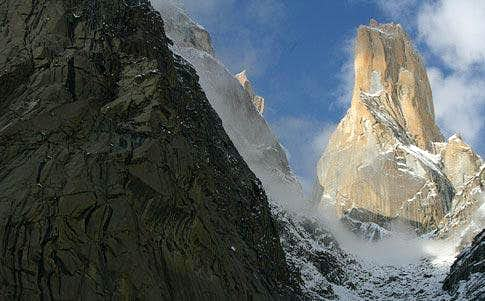 Trango Tower close view