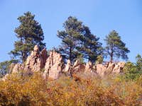 Outcrops and Ponderosa Pine