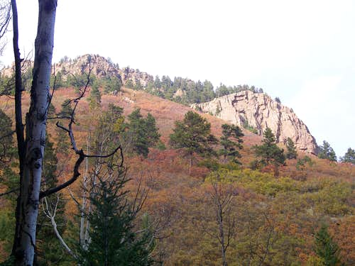 Rudolph Mountain Trail Outcrops