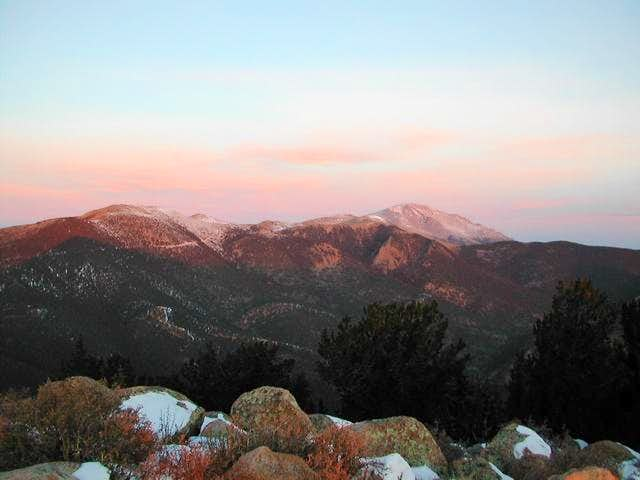 View of Pikes Peak and...
