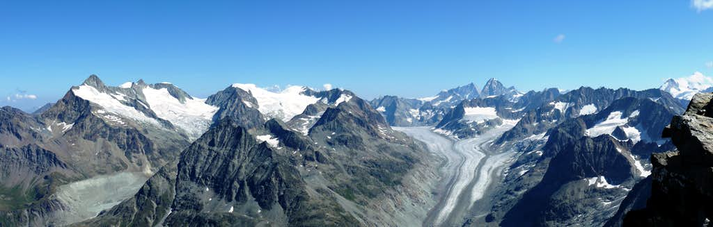 Pano from the summit of Mont Gelè