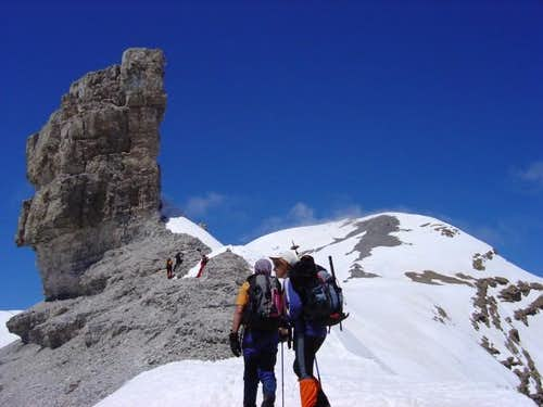 View of the summit of Taillon...