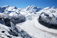 The Monte Rosa group and the Gornergletscher