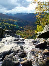 view from Roaring Brook Falls, Adirondacks