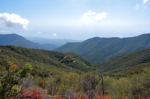 San Ysidro Canyon seen from the top