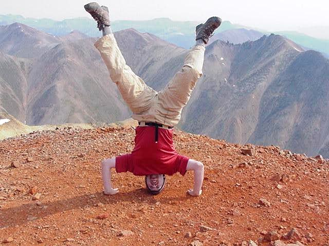 Trying to do a headstand on...