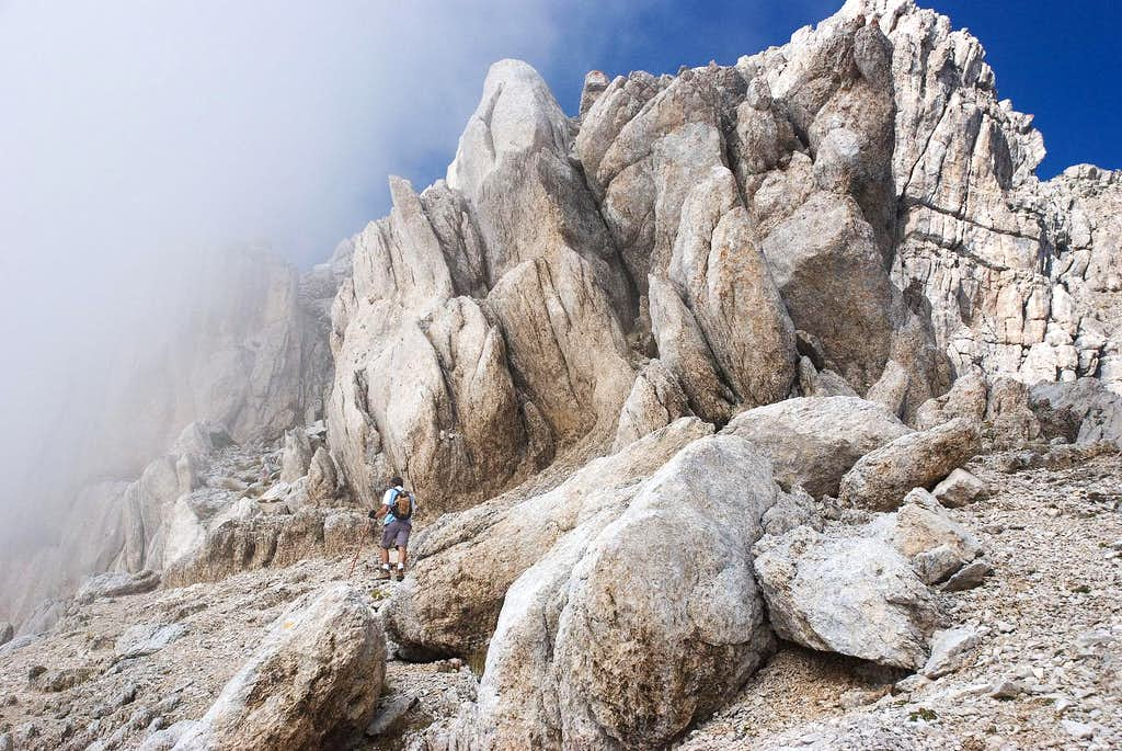 Along the eastern ridge