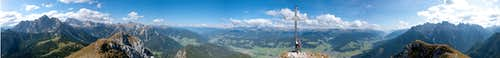 360° summit panorama Sarlkofel