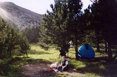 Camping near Pecos Baldy...
