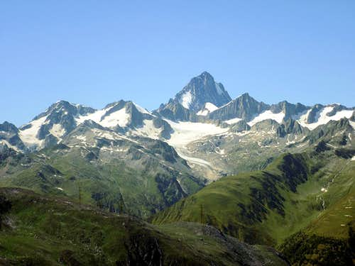 View from Nufenenpass