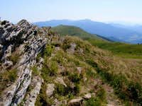 The rocky ridge of Mount Polonina Carynska (1297 m)