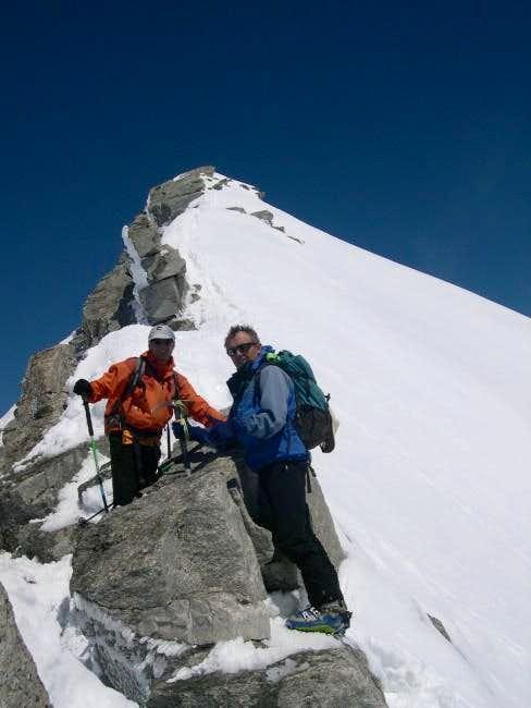 Last meters on the ridge to...