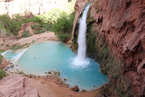 Havasu Falls in the evening