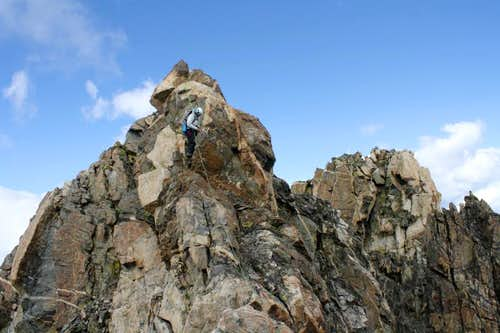 Descending Turret Peak\'s West Ridge