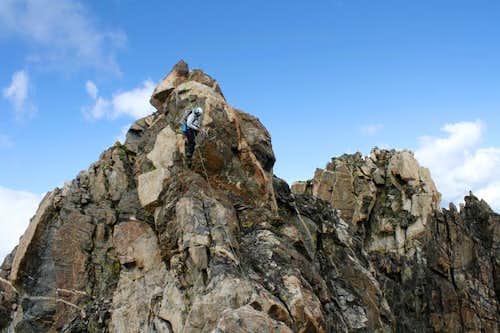 Descending Turret Peak's West Ridge