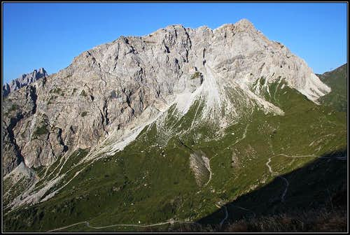 Porze / Cima Palombino from the NE