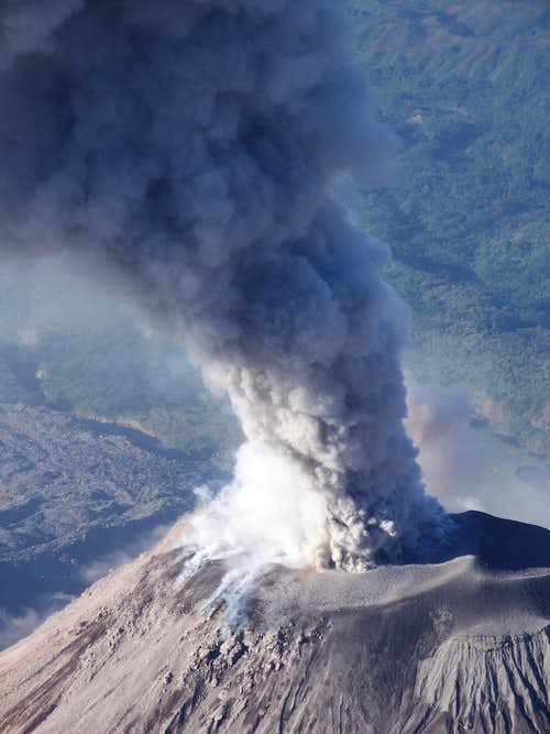 SG eruption close-up