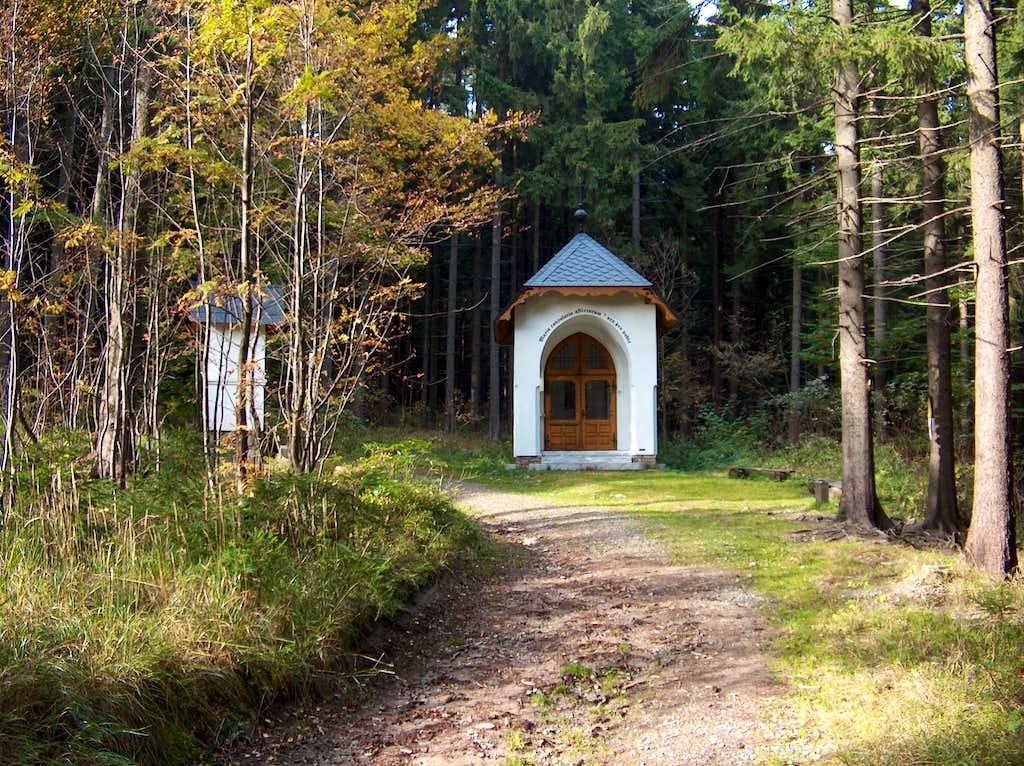 The chapel on the czech trail to Sněžník