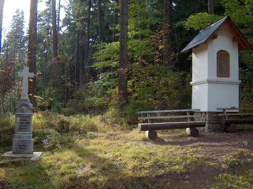 The chapel on the czech trail to Sněžník