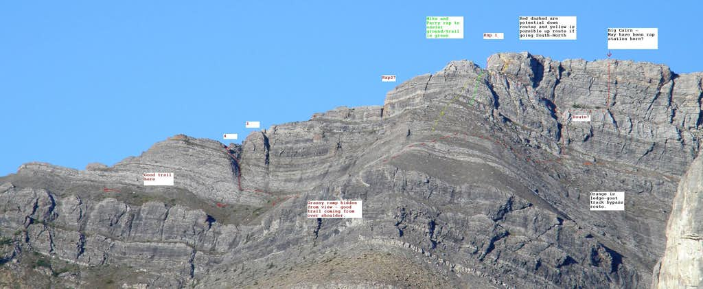 Rapell section of the SE Ridge on Un-named