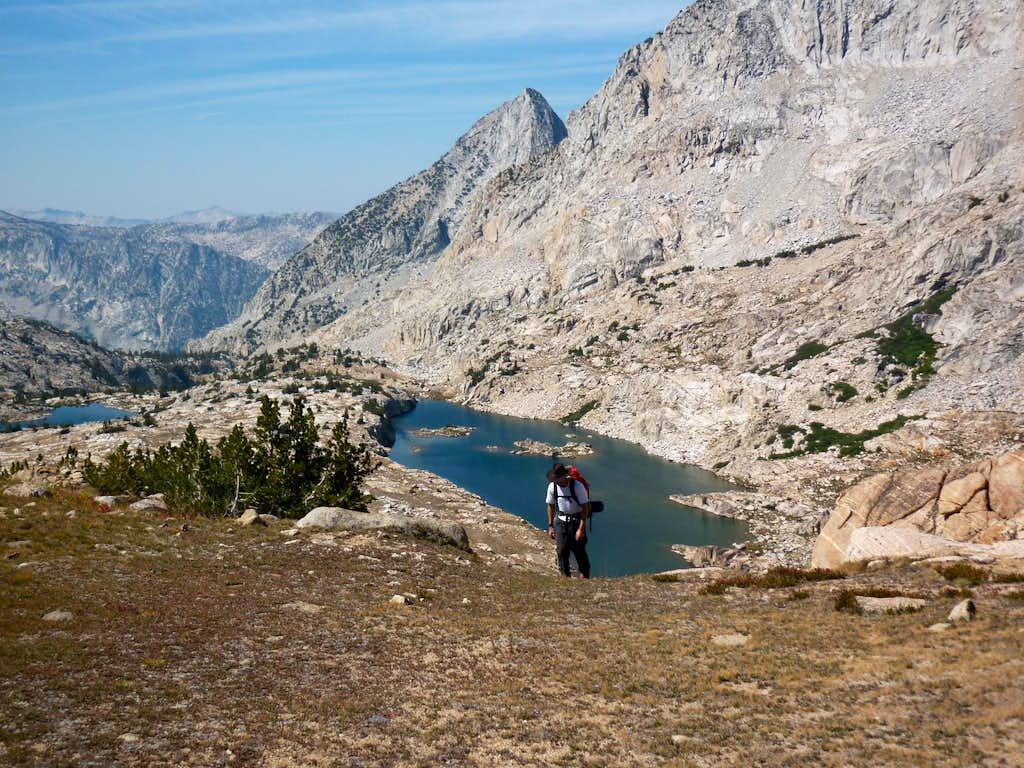 Climbing up Observation Pass
