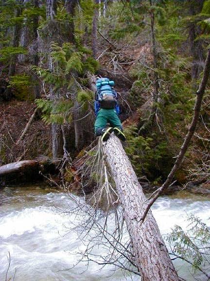 Crossing Early Winters Creek