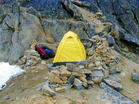 Campsite at the Col