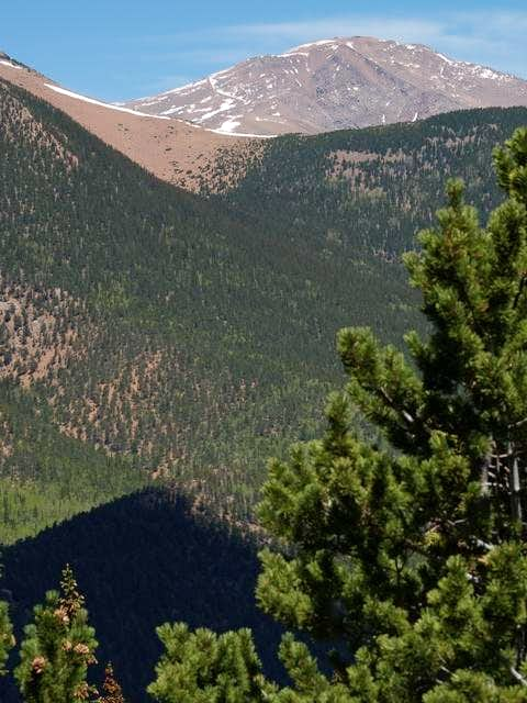 Pikes Peak from Mt Rosa 6-6-04