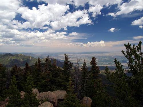 Colorado Springs from Summit...