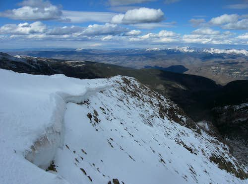 Cornice on Mt. of the Holy Cross NE Ridge