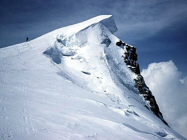 getting the summit of Breithorn