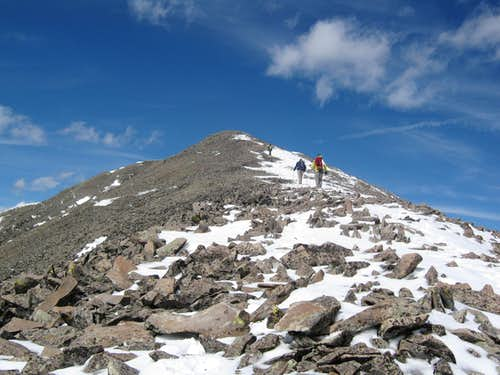 Final Section of San Luis Peak\'s South Ridge