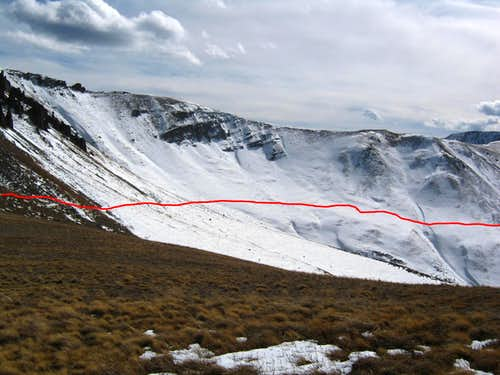 Going from the South Ridge to the Upper Saddle