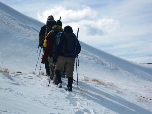 Breaking Trail past the 13ers
